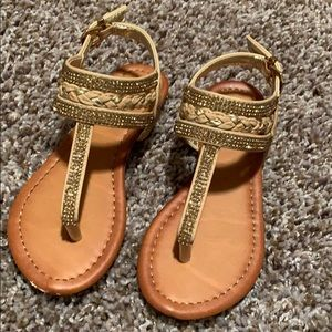 Shoes - Dominque Nicole gold sandals